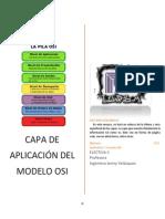 Capa de Aplicacion Del Modelo OSI