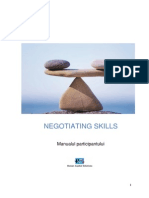 Negotiating Skills - Manualul Participantului