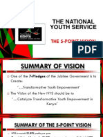The National Youth Service. The 5 Point Vision.