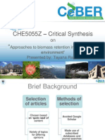 CHE5055Z – Critical Synthesis