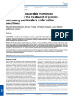 Hemmelmann a - 2012 - Applicaiton of an Anaerobic Membrane Bioreactor for the Treatment of Protein Containing Wastewaters Under Saline Conditions