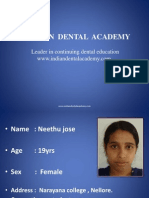 Neethu Jose / orthodontic courses by Indian dental academy