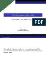 Solucion Metodo de Frobenius