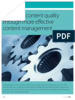 Improved Content Quality Through More Effective Content Management