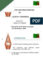 BOZ Quarterly Brief - Presentation (Q3 2009)