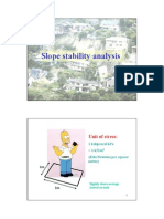 Limit Equilibrium Slope Stability