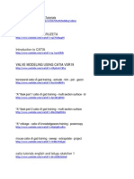 CATIA V5 Part Modeling Tutorials Useful Links