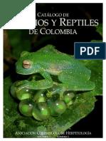 Catalago de Anfibios y Reptiles de Colombina
