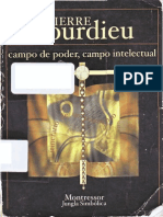 Bourdieu - Campo de Poder, Campo Intelectual