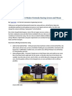 New Rules for 2014 Makes Formula Racing Green and Mean