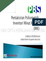 Psikometrik IMK (PBS)