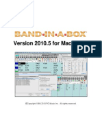 Band in a Box 2010_5 Mac Manual