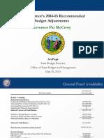05-15-14 Art Pope Governors Budget Presentation