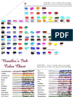 Pen Ink Color Charts