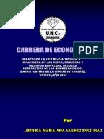 Impacto de La Asistencia Técnica y Financiera en Las Micro, Pequeñas y Medianas Empresas, Desde La Perspectiva de Los Empresarios Del Barrio Centro de La Ciudad de Coronel Oviedo, Año 2013