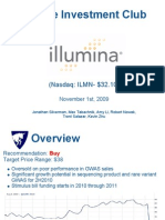 ILMN Initiation - Recommend Buy
