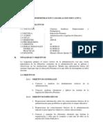 Vi-Inistracion y Legislacion Educativa