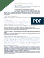 Atividade Psicologia Institucional e Processo Grupal - Cap 15