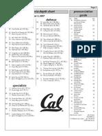 Cal's Depth Chart 2007-2008