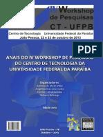 2013.10 - Workshop Ct - Anais de Pesquisas