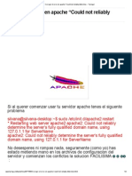 Corregir El Error en Apache Could Not Reliably Determine