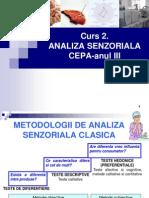 Curs 2. Metodologii Analiza Senzoriala