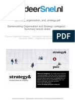 Summary Organisation and Strategy Slides