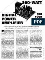 Amplifier-power - Digital 200w (Electronics Now 1997)