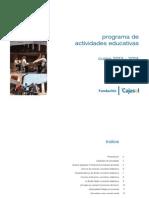 Cajasol_Programa de Actividades Educativas