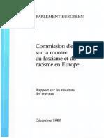 Commission d'enquête sur la montée du fascisme et du racisme en Europe (Parlement Européen, Décembre 1985)