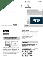 Sony Alpha A77II Instruction Manual (Multi Language)