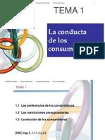 Tema1 MicroEconomia - La Conducta de Los Consumidores