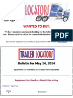 Wanted to Buy - May 14, 2014