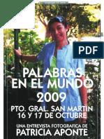 ENCUENTRO DE PINTORES PALABRAS EN EL MUNDO 2009, por Patricia Aponte