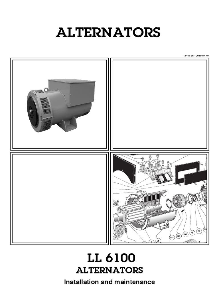 319 6424 Alt Ll6100 English Electrical Equipment Electricity Alternators Parts Diagram Alternator Mounting