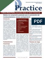 Medidas de Compresion Graduada Para La Prevencion Del Tromboembolismo en Pacientes Postoperatorios