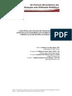 A Inluência Do Uso Das Tecnologias de Comunicação e Informação No Processo de Formulação de Políticas Publicas