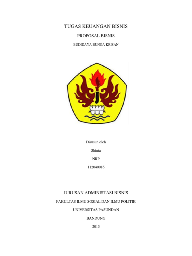 Proposal Keuangan Bisnis