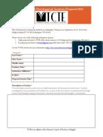 TCTE Professional Development Institute Proposal Form 2014