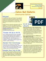 Calvin Ball Bulletin Construction Newsletter May 2014