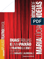 Coleção Aplauso - Criticas Teatrais de Maria Lúcia Candeias