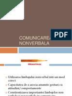 3. Comunicarea Nonverbala Si Paraverbala