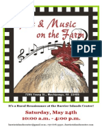 Art & Music on the Farm Program - 2014