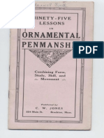 95 Lessons in ornamental penmanship