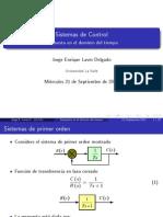 Respuesta Tiempo usando Matlab