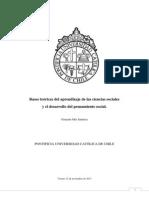 Bases Teóricas Del Aprendizaje de Las Ciencias Sociales y El Desarrollo Del Pensamiento Social