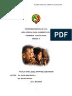 Módulo 6 Trabajo Social en El Ámbito de La Educación(1)