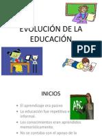 evolucin de la educacin