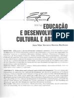 Artigo - Educação e Desenvolvimento Cultural e Artístico - Ana Mae