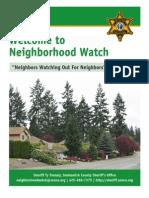 Neighborhood Watch from Snohomish County Sheriff